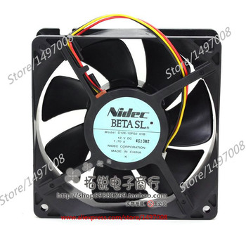 Nidec D12E-12PS2 01B DC 12 V 1.70A, 120x120x38mm Sunucu Kare fan